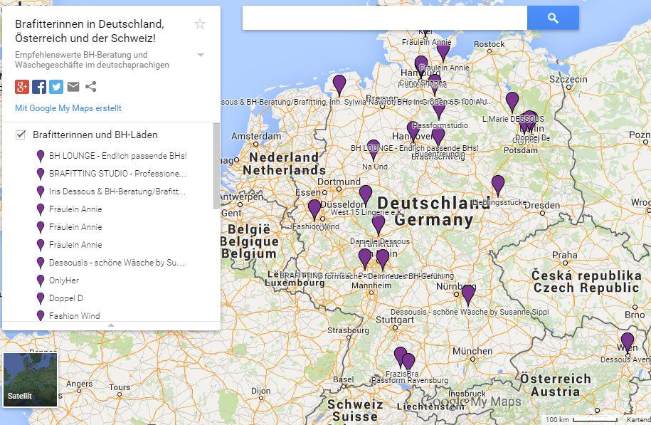 Brafitting Map Deutschland, Österreich, Schweiz