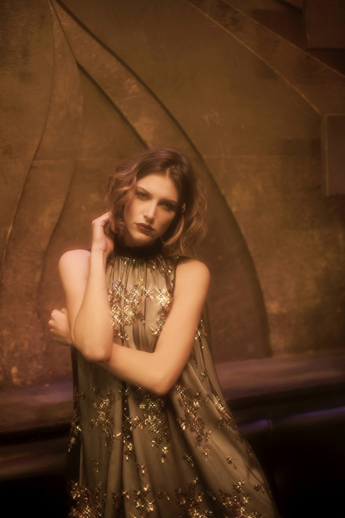 Felice Art Couture_Golden Rain Chemise lined (AW 15)