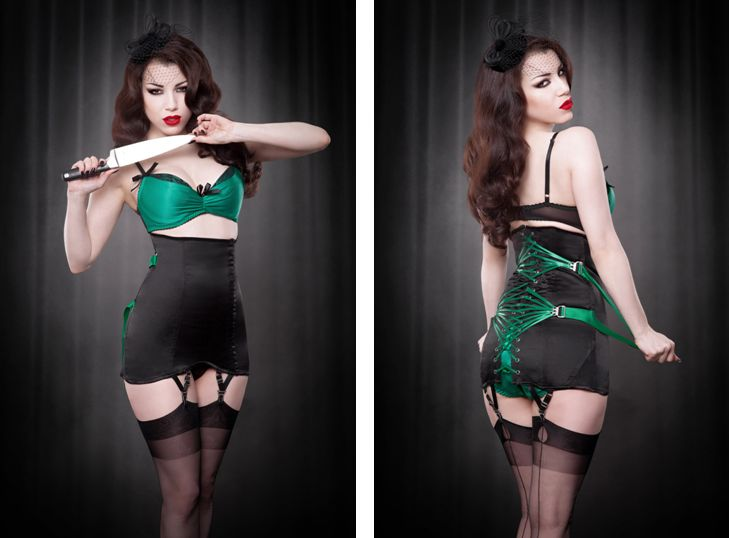Kiss Me Deadly_Fan Laced Girdle (2015)