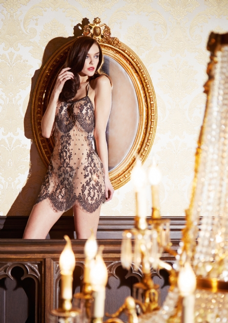 Shell Belle Couture_Standing Ovation Slip + Brief 2-Piece Set_Noire (AW 14)