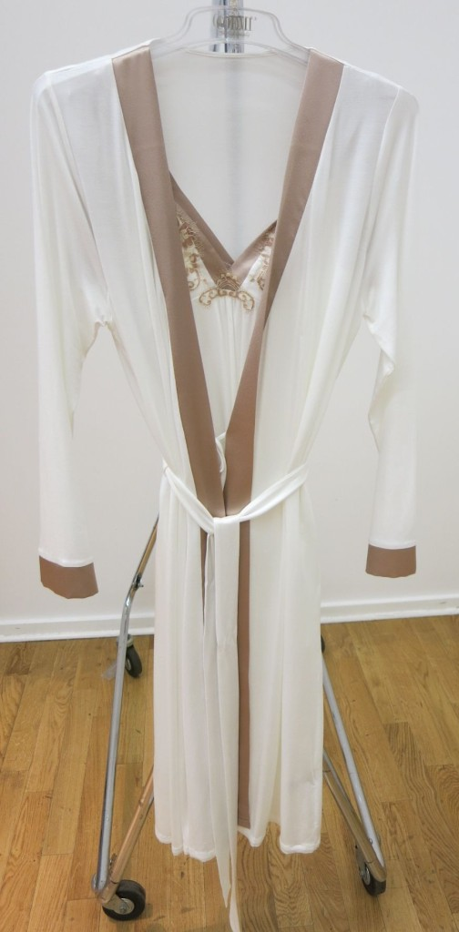 Coemi_Nightdress 152C705+Dressing Gown 152C709_Cream (SS15)