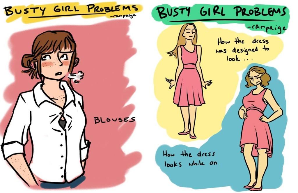 8 Dinge, die Frauen mit großen Brüste nicht tun können 7
