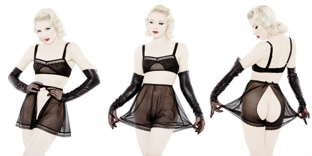 Dottie's Delights_Peepshow Bralette+Ouvert Tap Pant (Sheer Show Collection 2014)