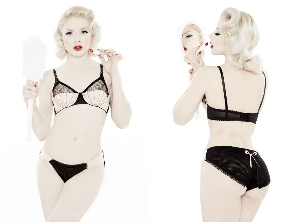 Dottie's Delights_Show-Off UW Bra+Burlesque Bikini (Sheer Show Collection 2014)