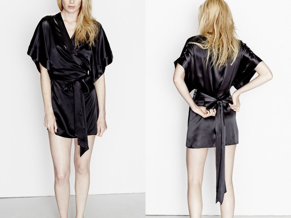 Three Graces London_Almost a Honeymoon Robe_Black (Debut AW15)