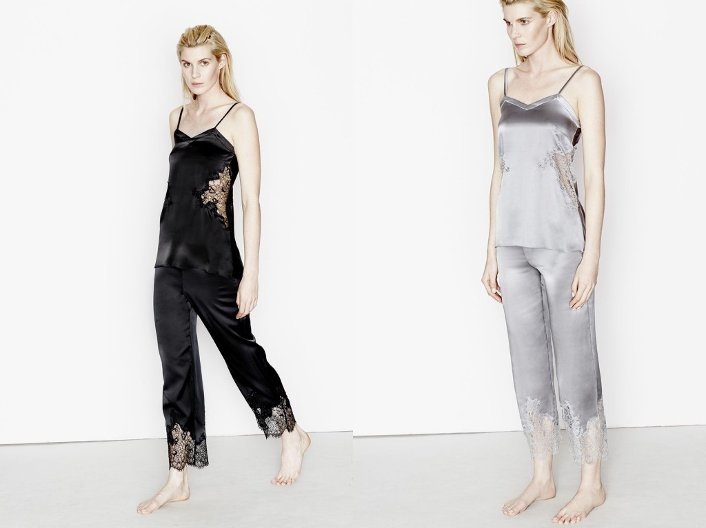 Three Graces London_Fallen Angels Cami+Pyjama Trousers_Black+Twilight (Debut AW15)