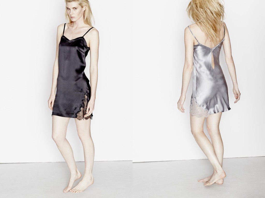 Three Graces London_Fallen Angels Slip Dress_Black+Twilight (Debut AW15)