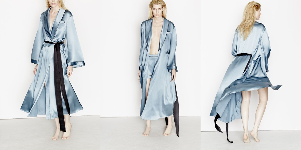 Three Graces London_Journey's End Robe_Willow-Black (Debut AW15)