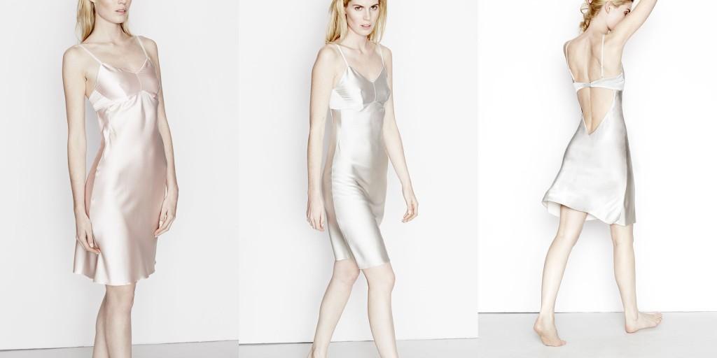 Three Graces London_Semi Mode Slip Dress_Blush Pink+Gloud Grey (Debut AW15)