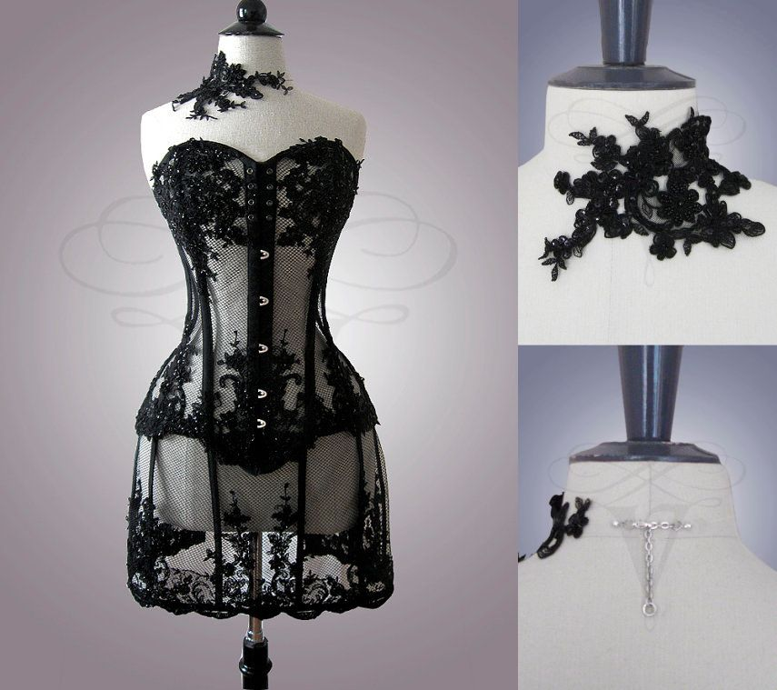 V-Couture_Nyx Tüllkorsett+Black Lace Choker