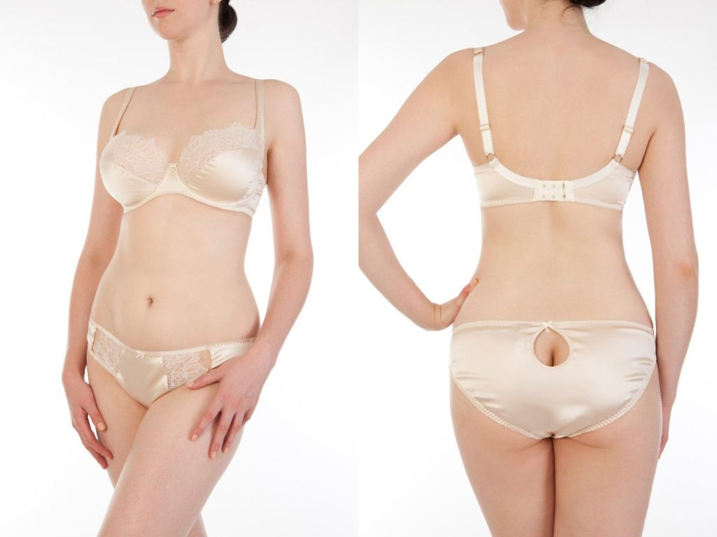 Harlow and Fox_Eleanor Almond_Full Cup Bra+Classic Briefs