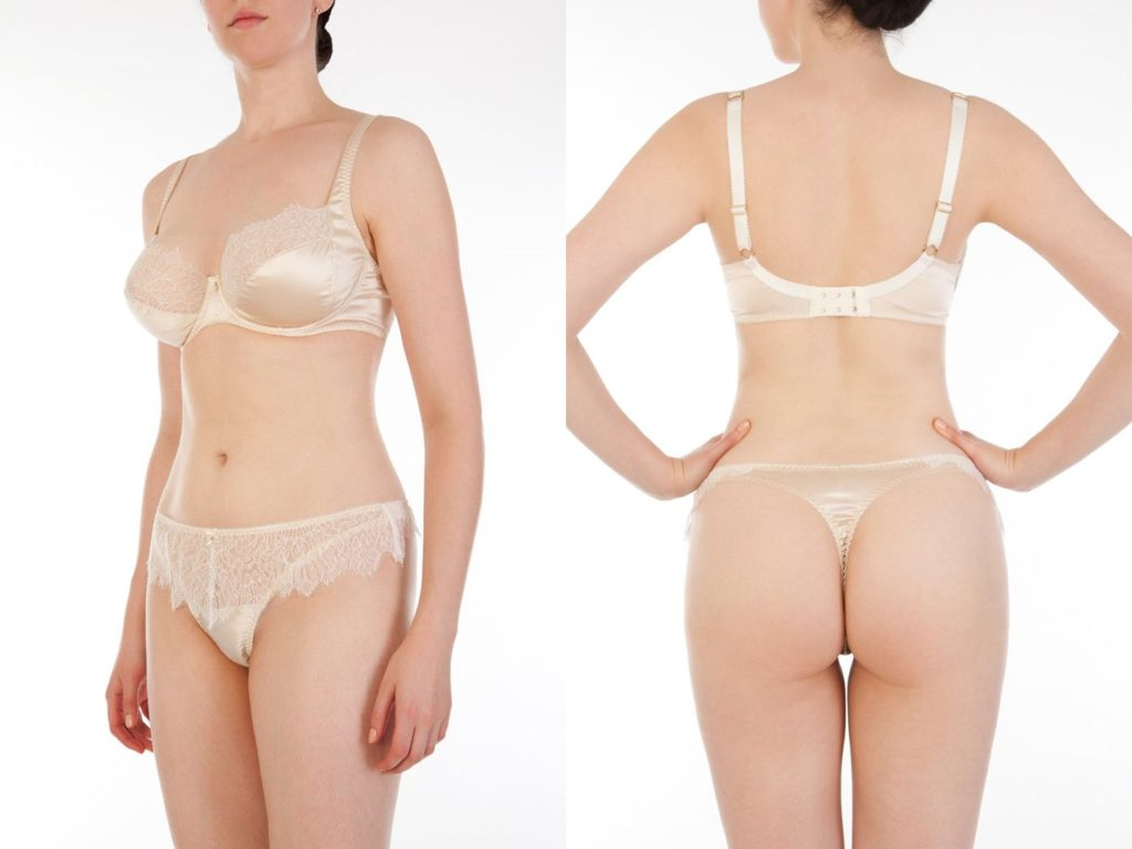 Harlow and Fox_Eleanor Almond_Full Cup Bra + Thong