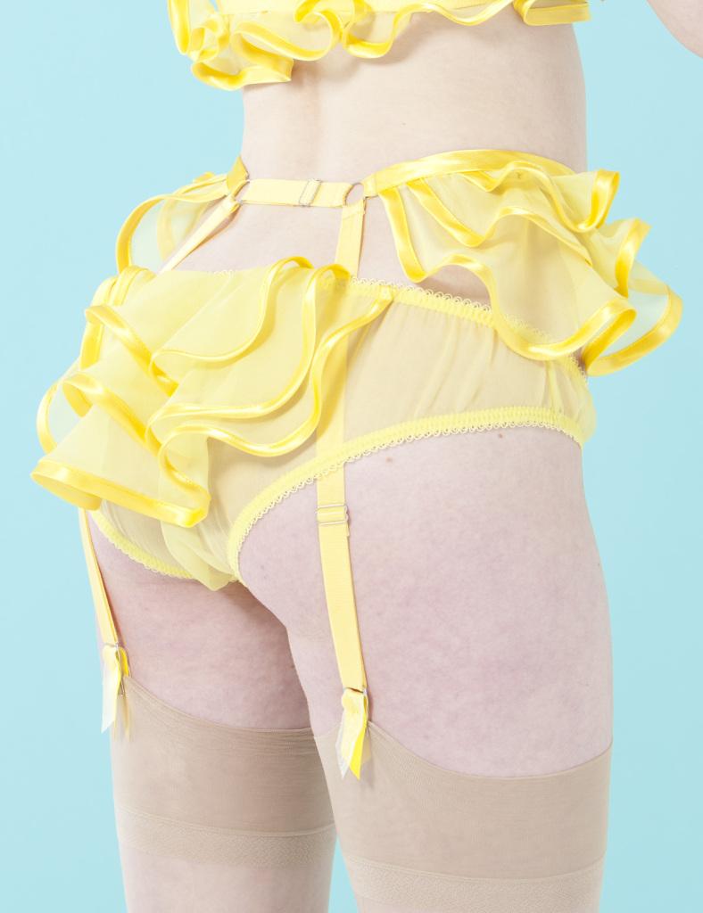Made by Niki_Peblum Silk Garter_yellow (SS 2013 Renaissance)