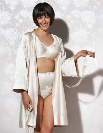 Di Murini_Rowena Ivory Bra-Set+Dressing Gown