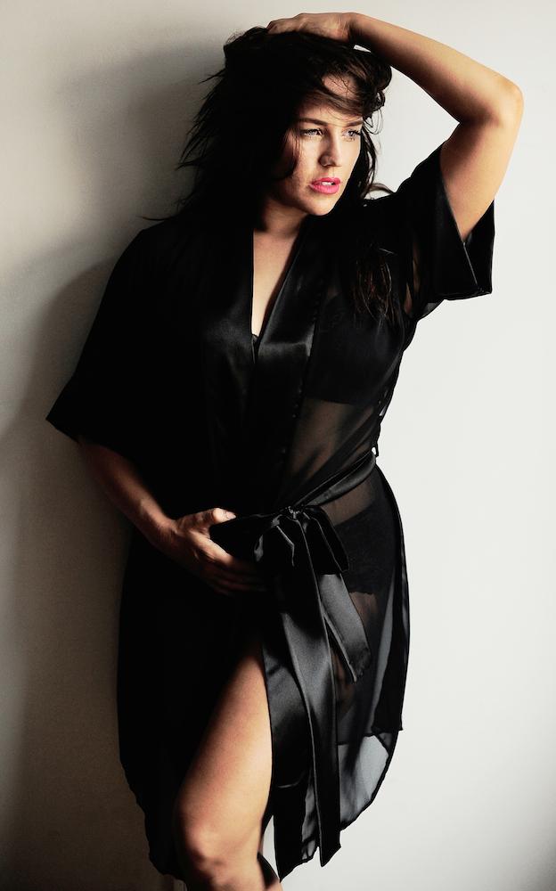 SJ Lingerie_Bombshell Black Robe