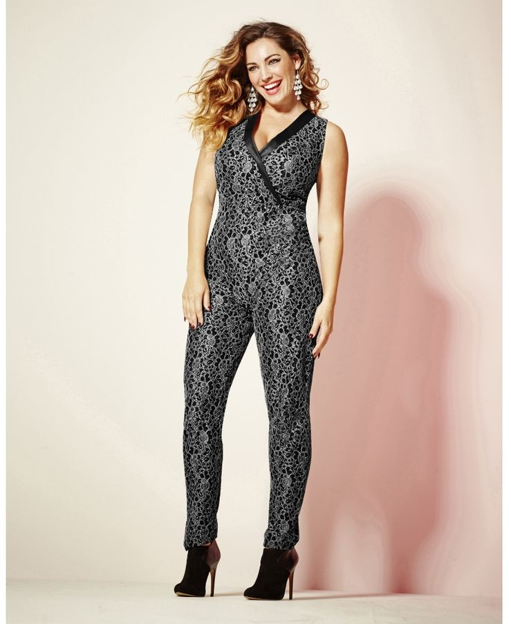 Simply Be_Kelly Brook Lace Jumpsuit (AW 2014)