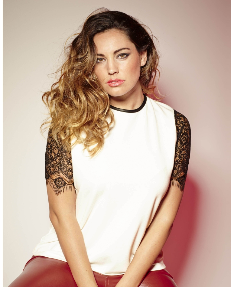 Simply Be_Kelly Brook Lace Sleeve Blouse (AW 2014)
