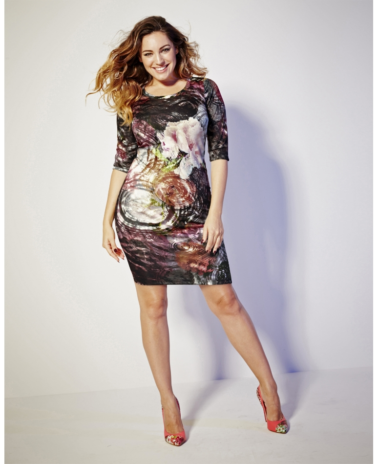 Simply Be_Kelly Brook Print Bodycon Dress (AW 2014)