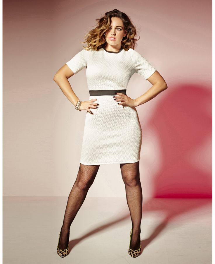 Simply Be_Kelly Brook Textured Dress (AW 2014)