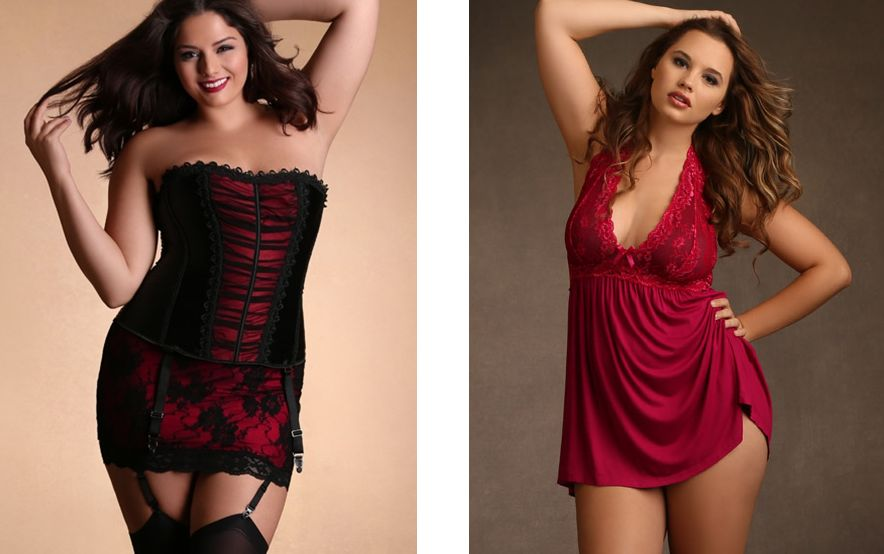 Hips and Curves_Lace Trim Ruched Corset + Super Soft and Comfy Halter Chemise_fuchsia