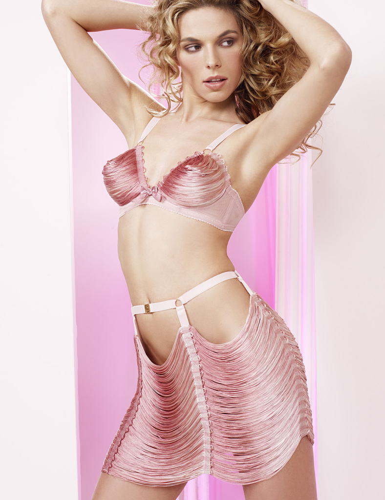 Made by Niki_Candy String Open Cup Bra+Cute Skirts_pink stripe (Hansel & Gretel AW 2014)
