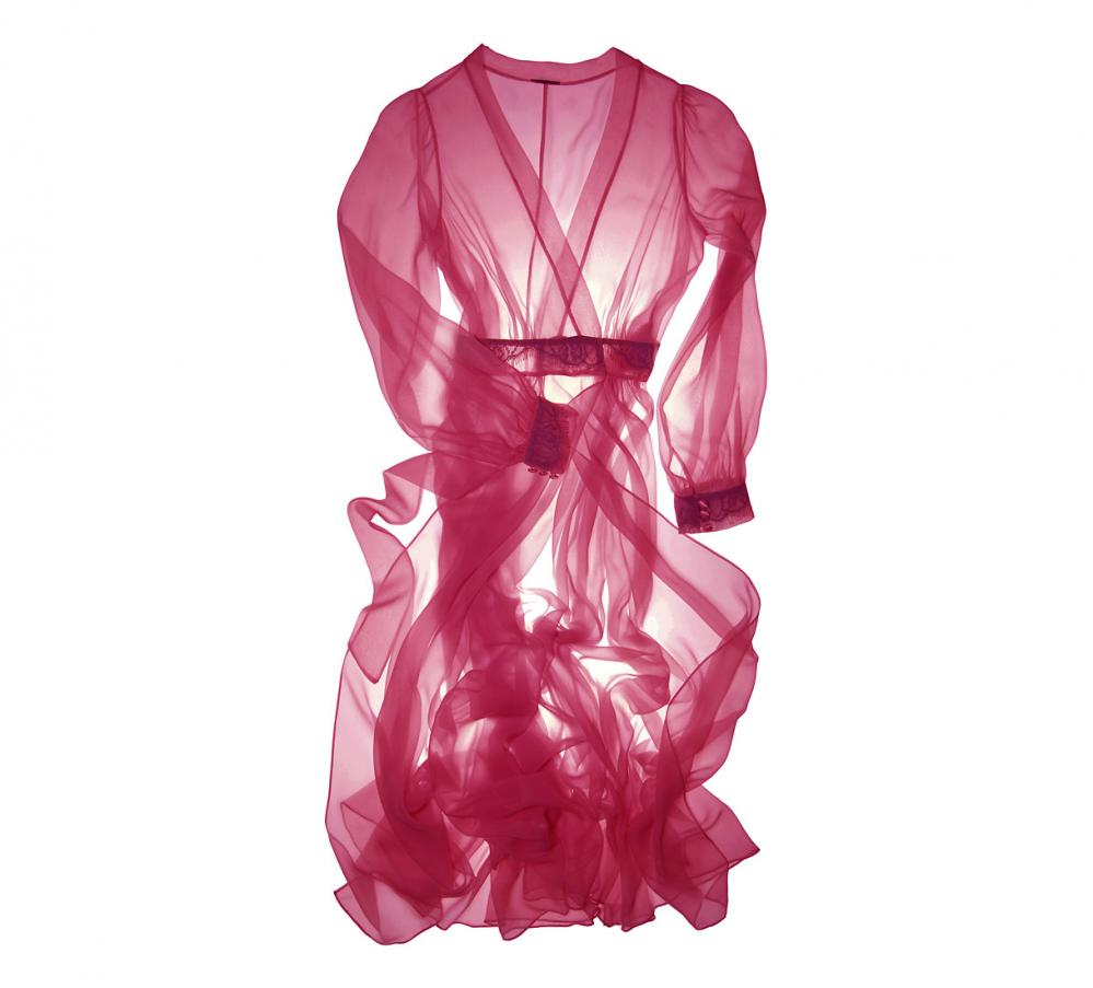 Between the Sheets_Sheer Romance Dressing Robe Red_2