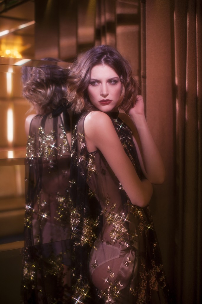Felice Art Couture_Golden Rain Chemise sheer (AW 15)