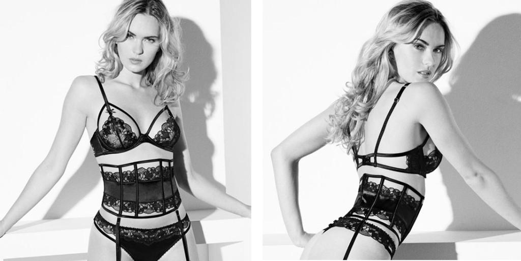 Millesia_Audace-Sexy Bra, Thong + Suspender Belt_Black (SS 14)