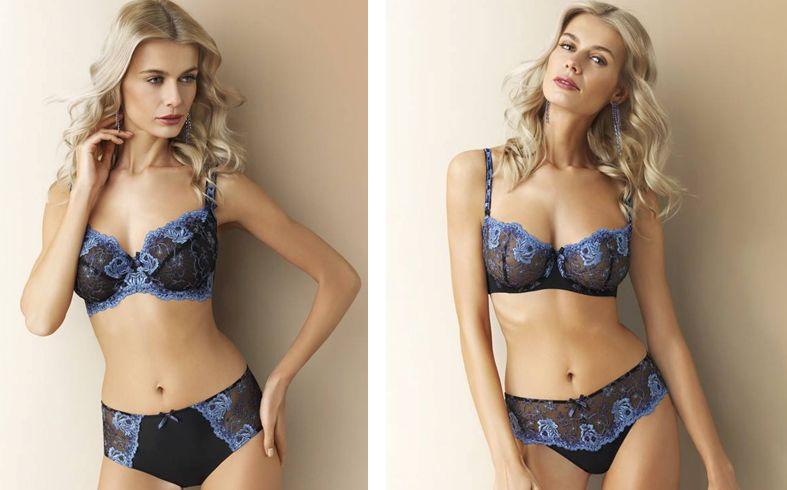 Corin_Selene Bra 10830+Slip 03830, Bra 13830+String-Short 33830 _Black-Blue (SS15)