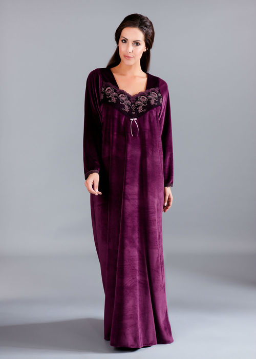 Peochi_Velour Kaftan with embroidered front (2014)