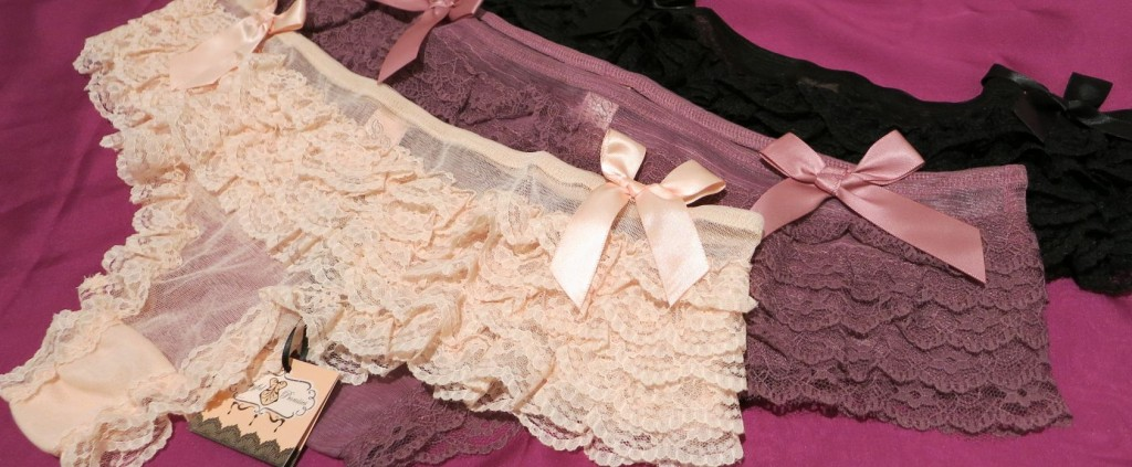 Playful Promises_Frilly Knickers_Peach, Heather, Black - Review Everyday Boudoir