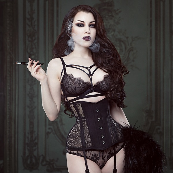 Threnody in Velvet wearing Waisted Creations + Malice Harness (2014) - Iberian Black Arts