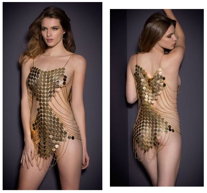 Agent Provocateur_The Return of the Queen_Varvara Chainmail Playsuit (SS15 Soirée Collection)