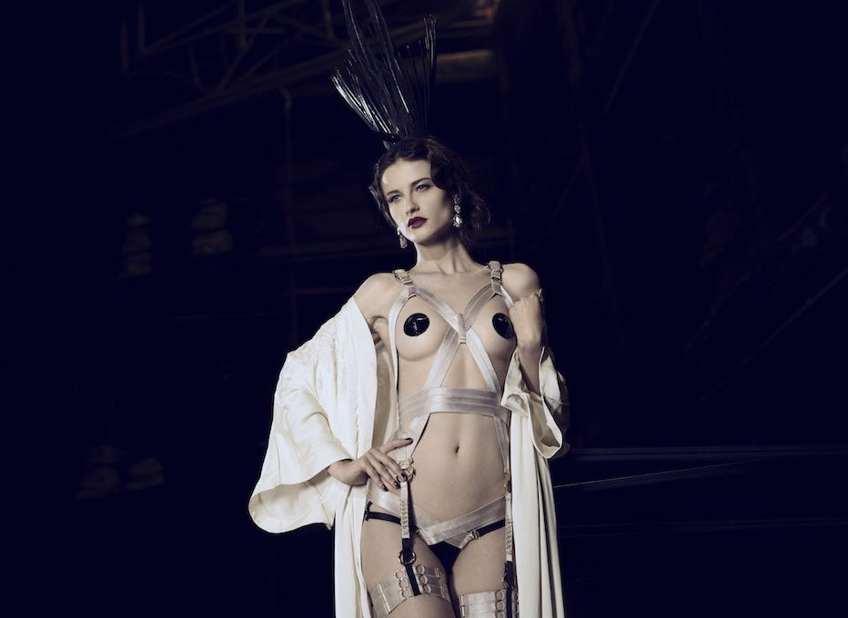 Bordelle_Cabaret Harness, Suspender Briefs + Webbed Garters (SS15)