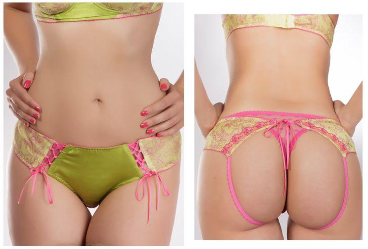 Juju Lingerie_Risque Brief + First Date Thong_Pink (Varied Flirt-Collection)