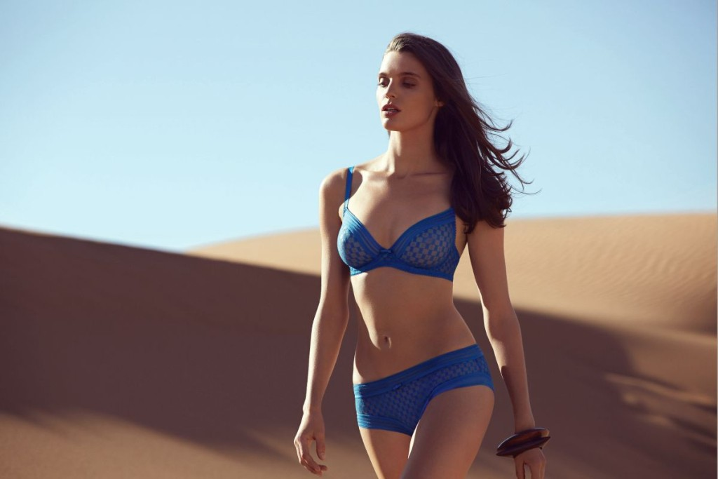Huit_A la Folie_Full Cup Bra+Shorty_Prussian Blue (SS15)