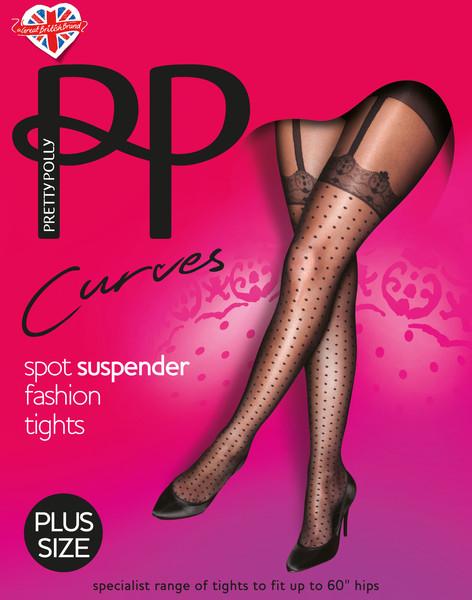 Pretty Polly_Curves Spot Suspender Tights