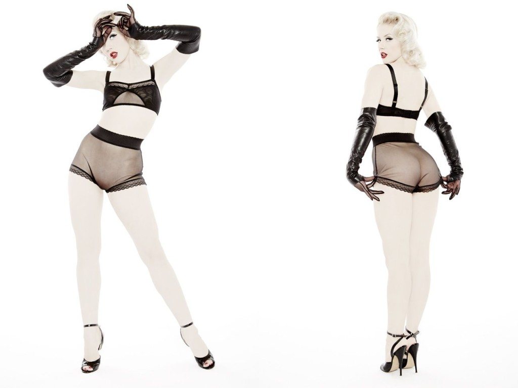 Dottie's Delights_Peepshow Bralette+High Waist Panty (Sheer Show Collection 2014)