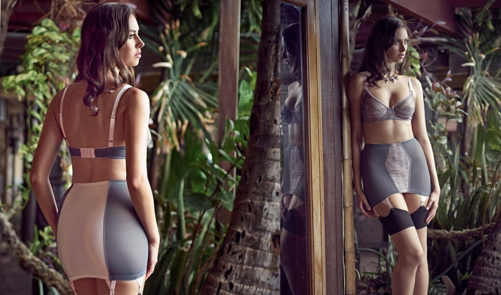 Dottie's Delights_Swizzle UW Bra+6-Strap Girdle Skirt_Grey (Sleepwalk Collection 2015)