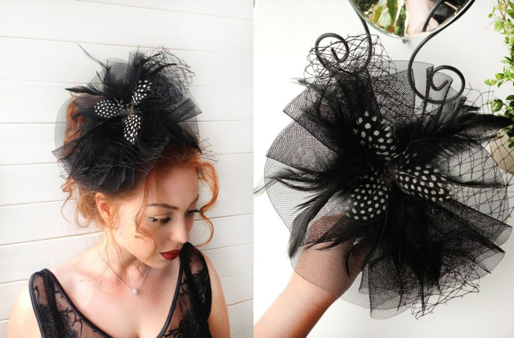 MissCocoBoutique_Black Fascinator