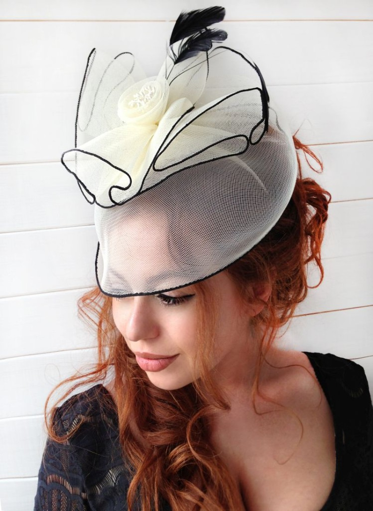 MissCocoBoutique_Ivory Fascinator 1