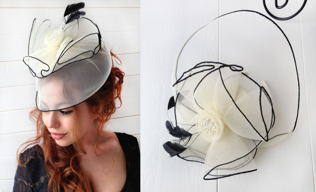 MissCocoBoutique_Ivory Fascinator