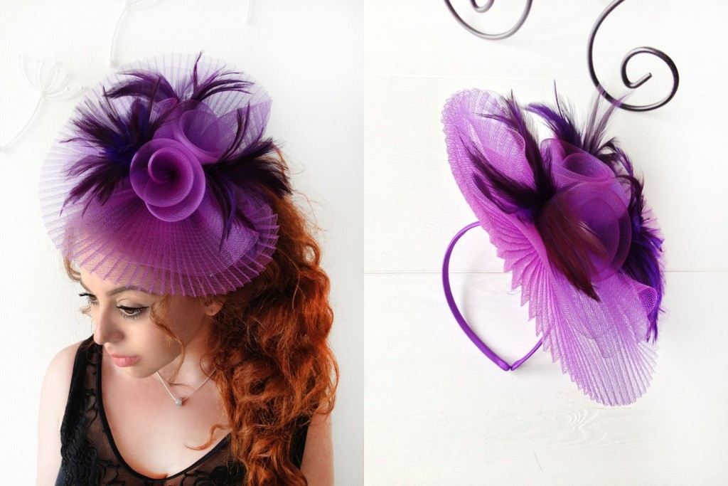 MissCocoBoutique_Purple Fascinator