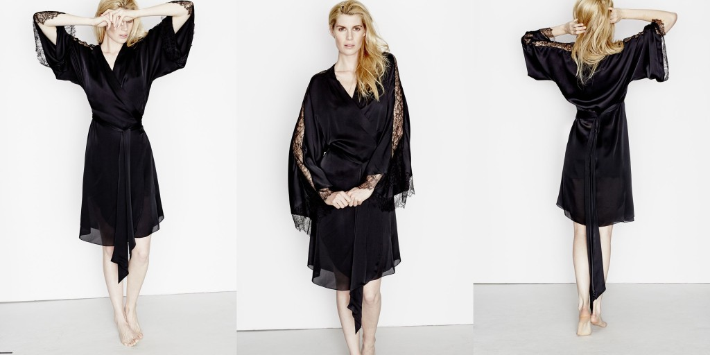 Three Graces London_Drums in the Night Midi Robe_Black (Debut AW15)