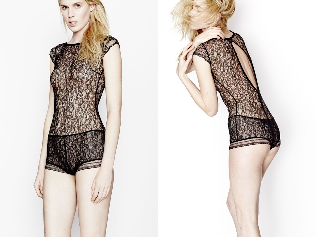 Three Graces London_Music at Night Bodysuit_Black (Debut AW15)