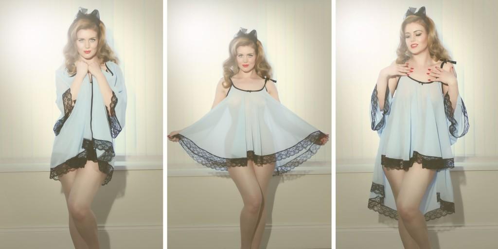 My Retro Closet_Joan Babydoll+Jayne Bed Jacket - Frankii Wilde