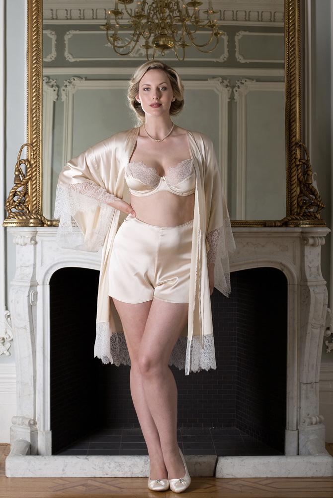 Harlow & Fox_Eleanor Almond Kimono, Bra+French Knickers (SS16)