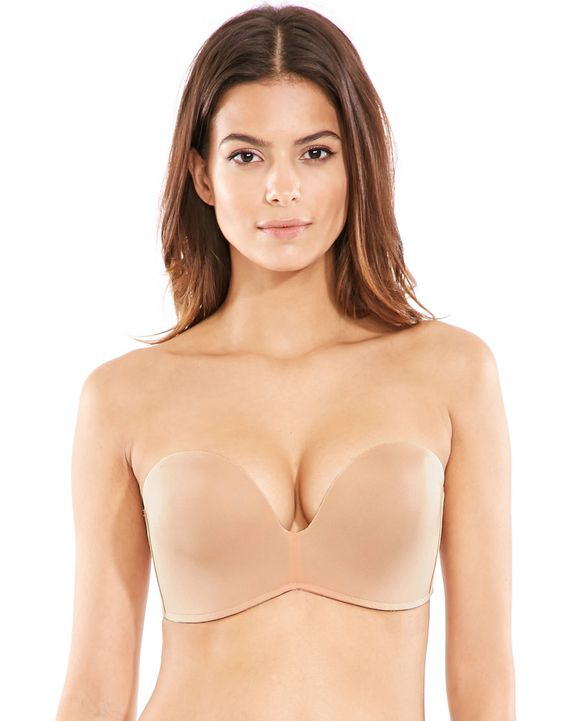 Wonderbra_Ultimate Strapless Bra_Nude - Trägerlose BHs Big Cups