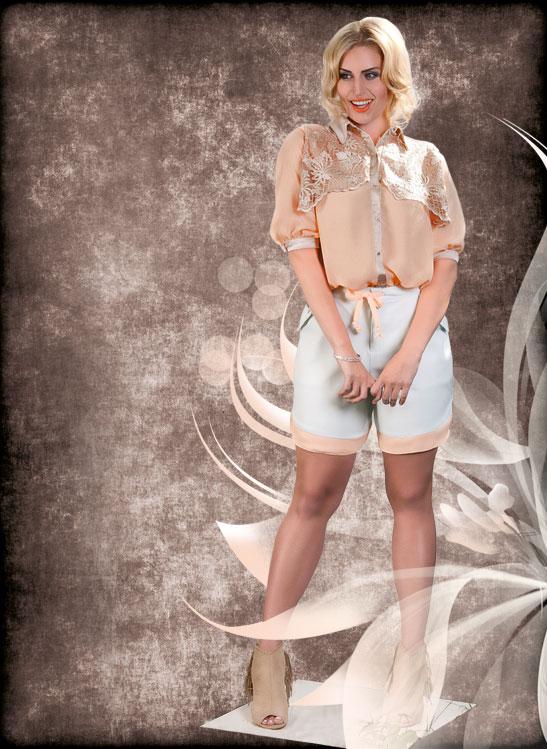 Bluse & Shorts